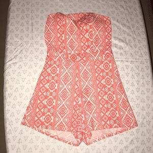Aztec pattern sleeveless romper